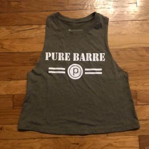 Pure Barre Army Green Tank